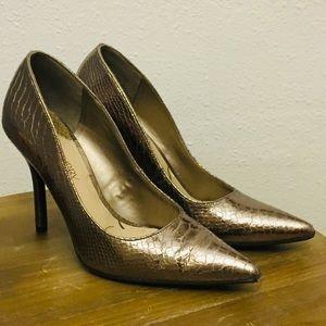 Metallic Pewter/Silver High Heels - Size: 9